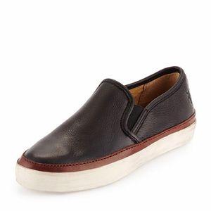 Frye Gavin Leather Slip On Skate Sneakers.